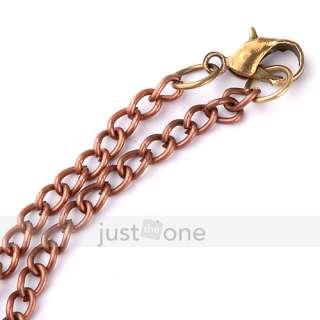 Women Lady Rhinestone Wish Tree Shape Pendant Necklace Chain