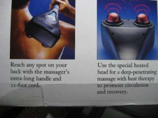 Sharper Image Hand Held Percussion Massager with Heat and Adjustable