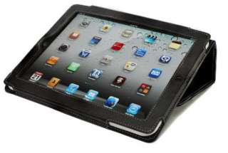 FOLIO BLACK LEATHER IPAD 2 CASE COVER STAND SKIN WALLET