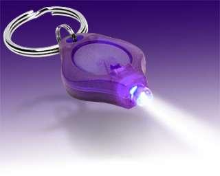 Brand New Purple Powerful Mini LED Torch Light Keyring