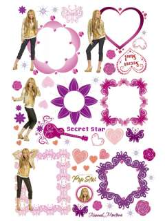 HANNAH MONTANA STIKAROUNDS 48 WALL STICKERS NEW