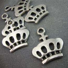 Silver Tone Metal Crown Charms Scrapbooking