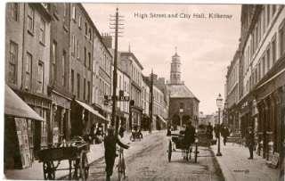 Kilkenny High St City Hall Old Irish Postcard Valentine