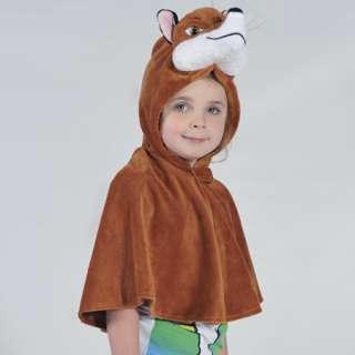 Boys Girls Kids Fantastic Mr Fox Cape Fancy Dress Halloween Book Week