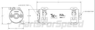 SX Performance 18208 Fuel Pump EFI / Carb 255 LPH Black