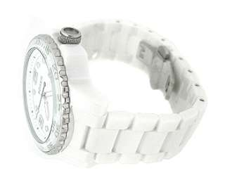 Fossil CE5009 White Round Dial White Ceramic Mens Watch