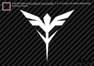 2x) Gundam Neo Zeon Insignia Sticker Decal Die Cut