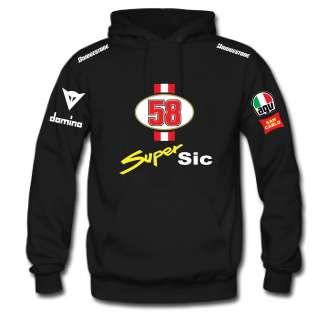 FELPA CAPPUCCIO NERA MARCO SIMONCELLI SUPER SIC 58 HONDA t shirt THE