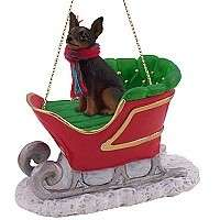 MIN PIN BLACK/BROWN SLEIGH (CHIPPED EAR) BARGAIN