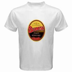 Beamish Irish Stout Beer Logo New White T Shirt