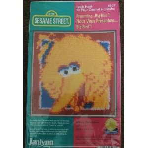 Janlynn Sesame Street Big Bird Latch and Hook Crochet