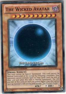 YUGIOH CARD SUPER RARE THE WICKED AVATAR CT07 EN023