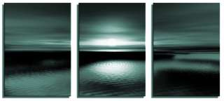 EXCLUSIVE ART TEAL MODERN 3 SET CANVAS PICTURE PRINT CL