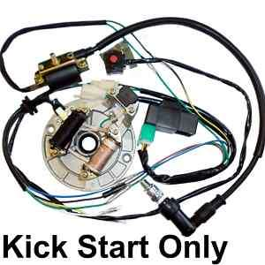 ELECTRICS Kick start only 50cc to 125cc Pit Dirt bikes Stator,Coil,Cdi