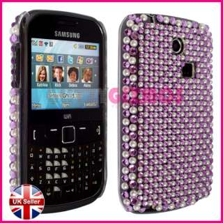 DIAMOND BLING GLITTER CASE COVER FOR SAMSUNG CHAT CH@T335 S3350