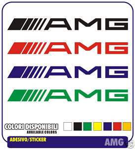 Adesivi AMG Auto Mercedes Tuning Car Sponsor Stickers