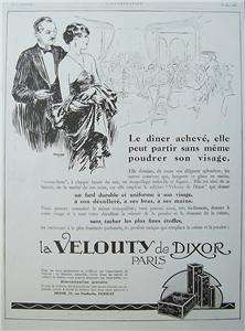 1926 DIXOR French Art Deco Advert Print COSMETICS AD