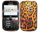 Leopard Print Flowers Silicone Gel Case Cover For Samsung Ch@t335 Chat