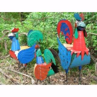 Roy the Rooster   hand made scrap metal sculpture  47cm