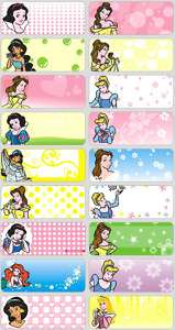 48 Disney Princess LARGE Personalised Name Stickers,Tag