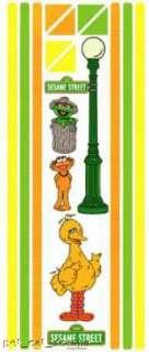 Colorbok SESAME STREET OSCAR BIG BIRD ZOE Border Stickr