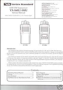 NEW Yaesu VX 160U/VX 180U Transceiver Service Manual in English