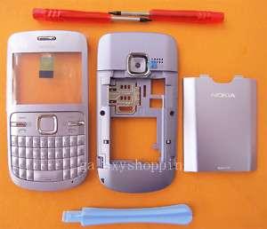 Purple Housing Cover Case For Nokia C3 C3 00 + Tools