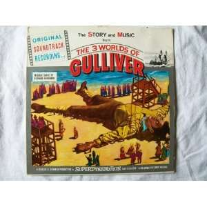 BERNARD HERRMANN 3 Worlds of Gulliver Soundtrack LP: Bernard