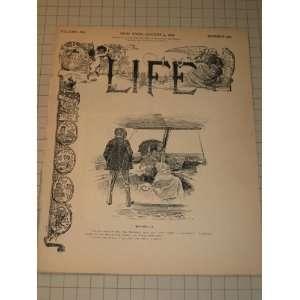 1892 Life Magazine Charles Dana Gibson Cover Art   Lifes