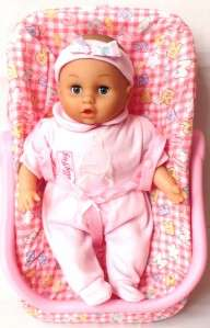 SALLY FAY BABY DOLL +2in1 CAR SEAT & ROCKING CRADLE NEW