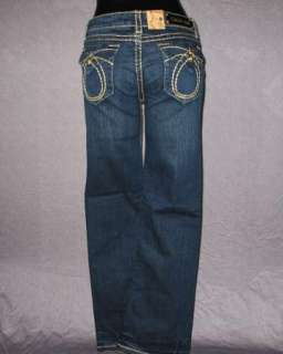 NWT Womens LA IDOL Jeans DARK BLUE WITH KHAKI WHIP STITCHING! 534LP
