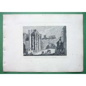 ITALY Rome Remains of Forum of Nerva   SCARCE 1830s Vintage Antique