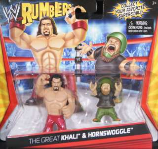 THE GREAT KHALI & HORNSWOGGLE   WWE RUMBLERS TOY WRESTLING ACTION
