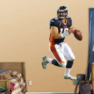 Tim Tebow Denver Broncos NFL Fathead Wall Graphic, NEW!