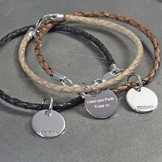 leather and silver friendship bracelets by hersey silversmiths