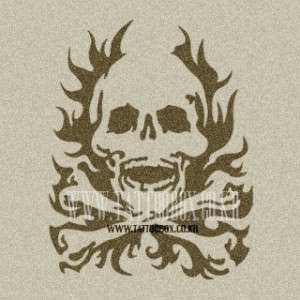Reusable Stencil for Airbrush   Flaming Skull
