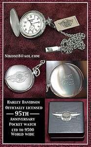 HARLEY DAVIDSON 95TH ANNIVERSARY POCKET WATCH LIMITED EDITION