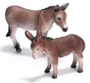 NEW* SCHLEICH 13644 Donkey & 13268 Foal Set 2009 Horse