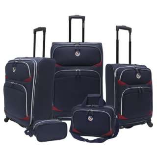 Beverly Hills Country Club San Vincente 5 Piece Luggage Set   Navy
