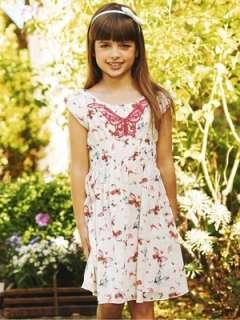Yumi Girls Butterfly Print Chiffon Dress  Very.co.uk
