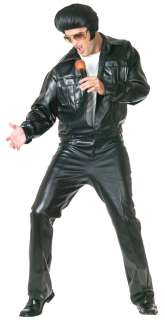 Adult Elvis Presley Super Deluxe Faux Leather Costume   Elvis Presley