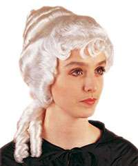 Adult Colonial Woman Wig in White   Geisha Costume Accessories