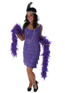 Plus Size Purple Fringe Flapper Dress   1920s Halloween Costumes