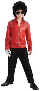 Boys Red Michael Jackson Zipper Costume Jacket   Michael Jackson