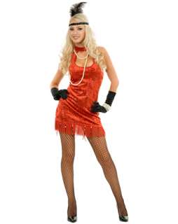 Adult Sexy Red 20s Flapper Costume  Wholesale 20s Halloween Costume