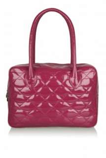 Raspberry Quilted Lips Large Jenny by Lulu Guinness   Pink   Buy Bags