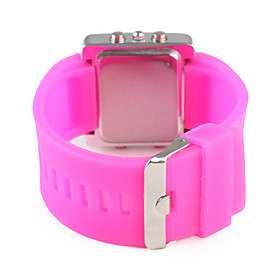 chica de moda mujer reloj pulsera rosa roja rosa roja línea A110