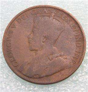 1912 Canada Canadian PENNY 1 one CENT LARGE cent COIN