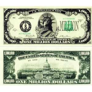 Set of 10 Bills Classic Million Dollar Bill Toys & Games