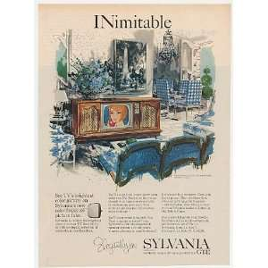 1965 Sylvania French Provincial Color TV Theater Print Ad